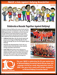 kids against bullying newsletter