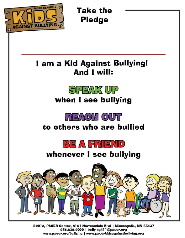 Kids Against Bullying Pledge