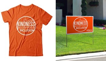 Order the official t-shirt or yard sign