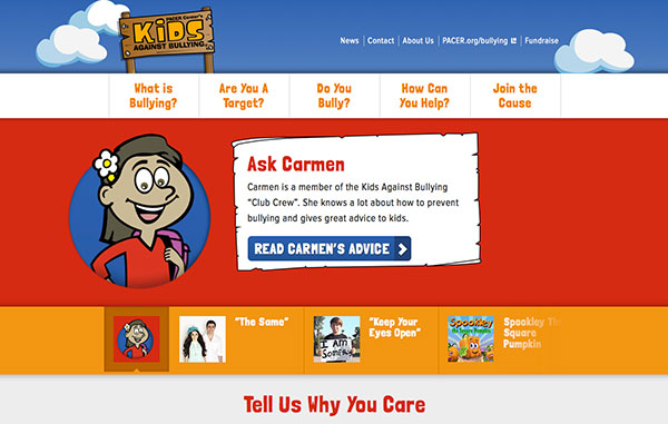 Kids Against Bullying Website