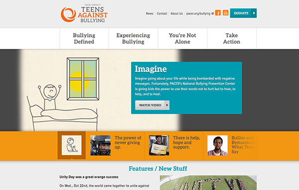 Teens Against Bullying Website