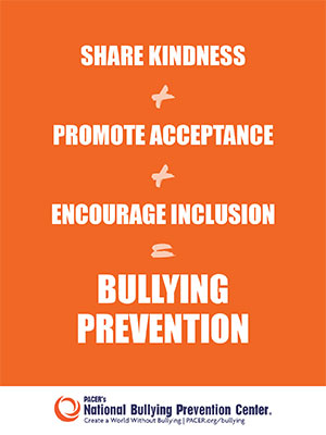 october is national bullying prevention month poster