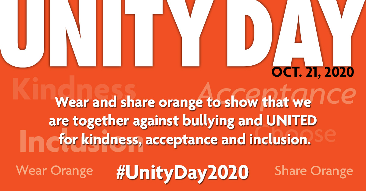 Unity day wednesday october 24 2018 national bullying prevention sign up for updates stopboris Gallery