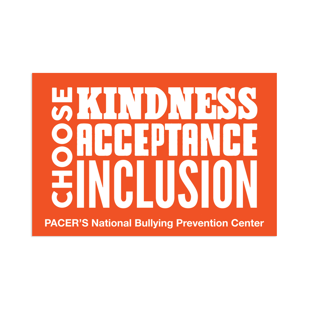Choose kindness, acceptance and inclusion sticker