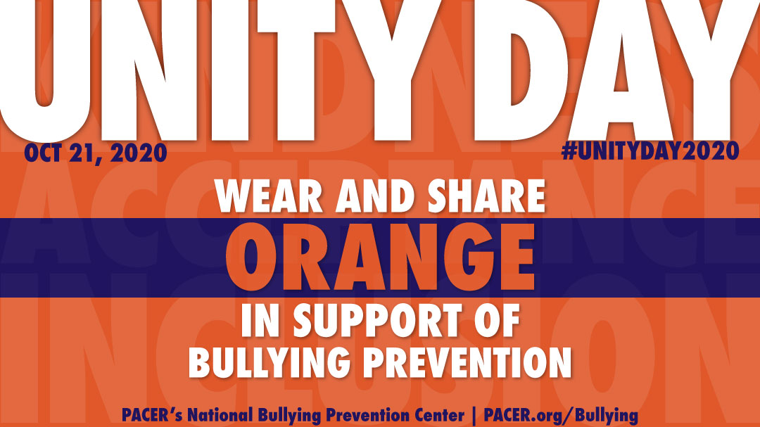 Unity Day -Wednesday, October 21, 2020- National Bullying Prevention Center