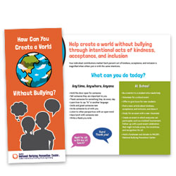 Create a World Without Bullying Event Kit - National Bullying