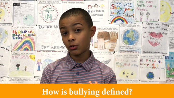 How is Bullying Defined? Student Response