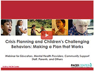 View -  Crisis Planning and Children's Challenging Behaviors video