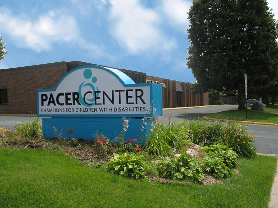 PACER Center Building and sign